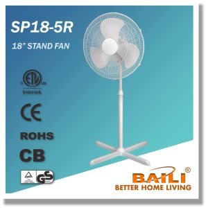 """Popular 18"""" Oscillating Stand Fan with Cross Base, 1.3m Height pictures & photos"""