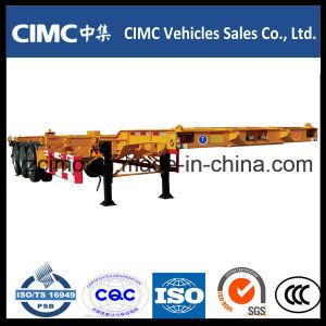 Cimc 2 Axles 65 Ton Skeletal Container Port Trailer pictures & photos