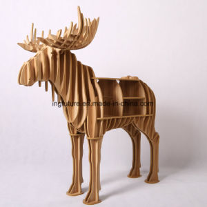 DIY Wooden Decoration Storage Stag Side Table pictures & photos