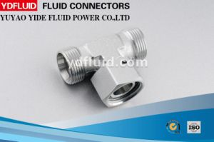 Ningbo Factory Swivel Nut Tube Fitting Adapter Metric Hydraulic Tee Fitting pictures & photos