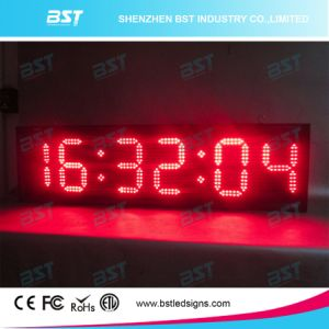 Double Sided Red Color Indoor/Outdoor LED Clock Sign (HH: mm: SS) pictures & photos