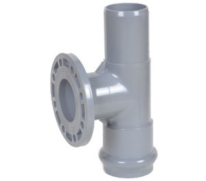 PVC Faucet Tee with Flange Branch (M/F) - Rubber Ring Fittings pictures & photos