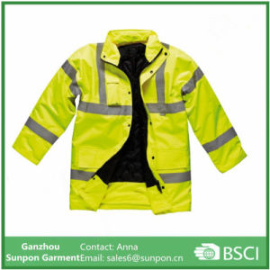 High Visibility Motorway Safety Jacket with Reflective Tape pictures & photos