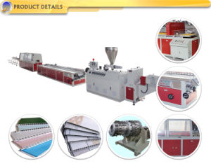 PVC WPC Profile Window Plastic Production Extrusion Making machinery Line pictures & photos