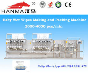 Full Automatic Wet Wipes Folding Machine Hm-Zd1280A