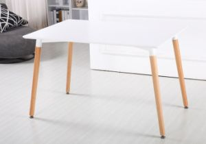 Eames MDF Dining Table with Beech Wood Legs pictures & photos