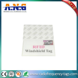 860~960MHz PVC UHF RFID Vehicle Windshield Tag with Adhesives pictures & photos