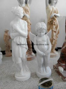 White Marble Stone Carved Human Figure Sculpture for Garden Decoration pictures & photos