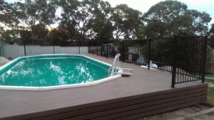 High Quality Aluminum Security Pool Fence Panel