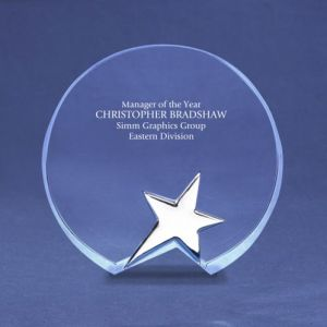 Round Silver Star Accent Trophy (#78212) pictures & photos