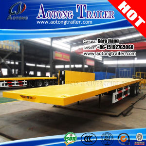 Tri Axles Platform 40FT Container Flatbed Semi Trailers for Vietnam pictures & photos