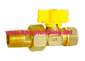 Brass Gas Valve with Union pictures & photos