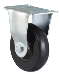 Medium Duty Swivel Soft Rubber Caster (Black) pictures & photos