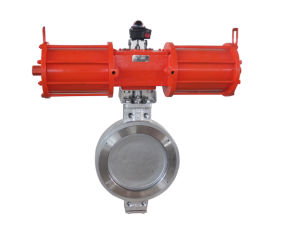 Stainless Steel Double Eccentric Butterfly Valve with Actuator pictures & photos