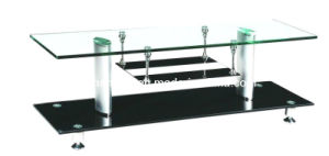 Glass Coffee Table Aluminum Tube and Modern Living Room Furniture pictures & photos