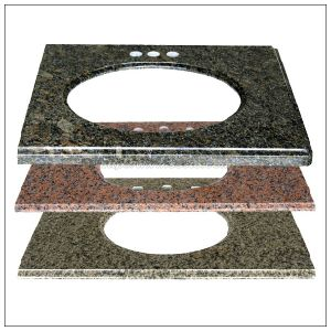 Natural Stone Brown / Yellow / Red Granite Vanity Top pictures & photos