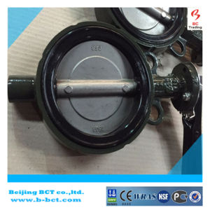 DK CASTING IRON BODY BUTTERFLY VALVE WITH HANDLE OR GEAR WORM BCT BCT-DKD71X-5 pictures & photos
