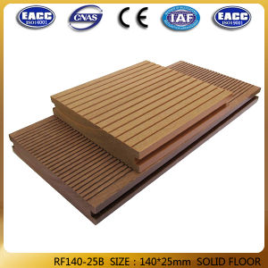 Outdoor Wood Plastic Composite Solid Floor 140*25mm