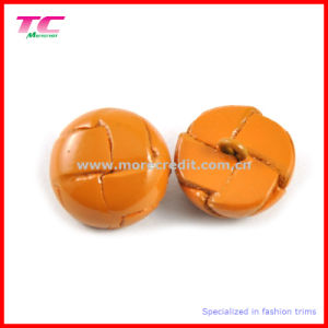 Special Colorful Leather Button/Shank Button for Quality Coats