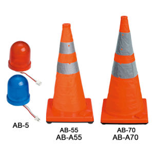 Solar Expandale LED Traffic Safety Cone with Light pictures & photos