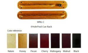 6 Pool Cue Wall Rack