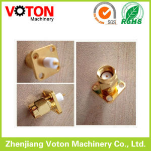 RP SMA Male Square Slab 4hole Connector