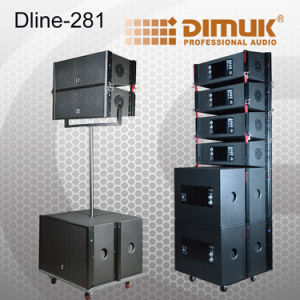 Dual 8 Inch Active Line Array Speaker/Powered Line Array System/Powerful Line Array Speaker (Dline-281)