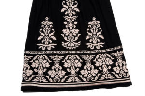 Black Dress Women′s Summer Embroider Braces Skirt pictures & photos
