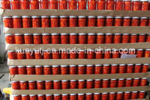Glass Jar Sweet Red Pepper Strips pictures & photos