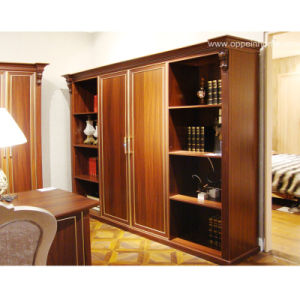Oppein High Quality American Brown Wooden Book Cabinet (SG21127A247) pictures & photos