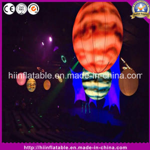 Painting Inflatable Planet Ball with LED Light pictures & photos