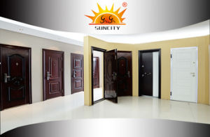 Top Design Sales Economic 5 Panel Steel Door Design (SC-S064) pictures & photos