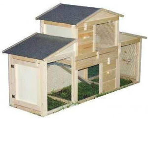 Wooden Rabbit Hutch (5663-0184)