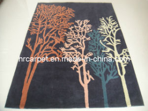 Acrylic and Artifical Cotton Blended Handmade Decorative Carpet (HX-QL002)