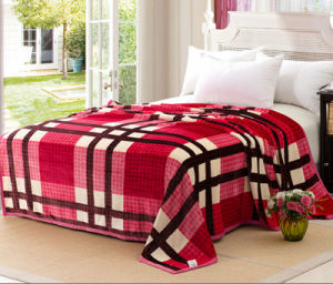 100%Polyester Super Soft Flower Printed Flannel Blanket