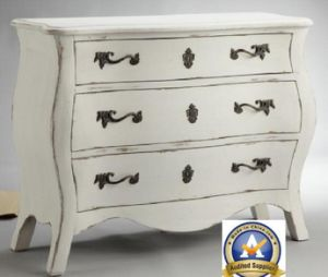 3 Drawer Metal Decorated Console Antique Home Cabinet