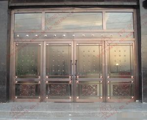 Experienced Supplier of Copper Plated Stainless Steel Door (BHS-DC09) pictures & photos