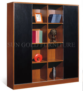 Two Doors Wooden File Cabinet Bookcase (SZ-FC012) pictures & photos