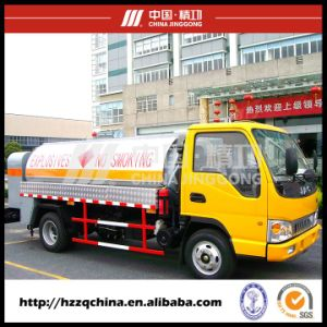 4000L Carbon Steel Q345 Carbon Steel Mobile Refuelling Tank Truck for Light Diesel Oil Delivery with High Quality (HZZ5060GJY) pictures & photos