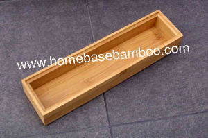 Bamboo in Drawer Storage Box Tray (Stackable Box) Hb5005 pictures & photos