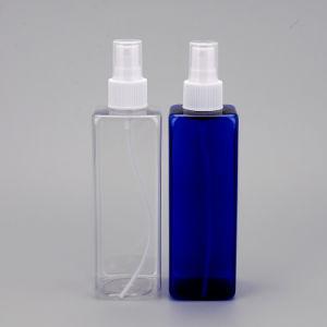 250ml Transparent/Clear Square Plastic Bottle for Cosmetic Use, Pet Bottle, PP Pump, Mist Spray Bottle pictures & photos