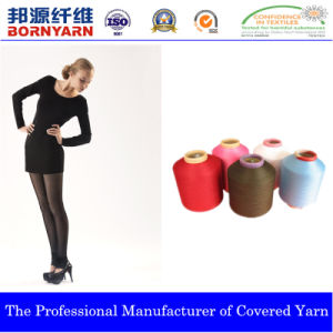 Spandex Covered Yarn with Polyester for Hosiery pictures & photos
