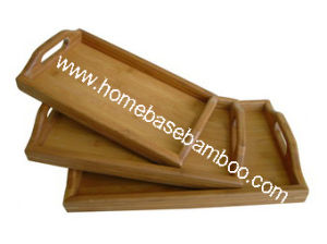 Bamboo Tea Food Coffee Fruit Serving Tray Tableware Storage Organizers Hb401 pictures & photos