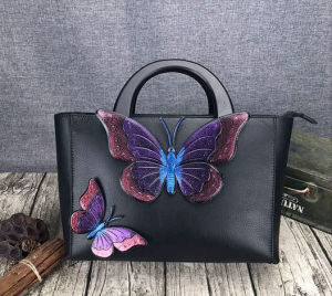 Chinese Style Genuine Leather Bags, Tote Bags, Pattern Women Handbags, Sling Bag, Leisure Bag pictures & photos