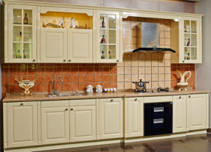 New Arrival 2017 Customized Design PVC Kitchen Cabinet House Furniture (zc-061) pictures & photos