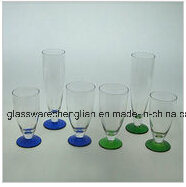 Drinking Glass Cup with Colorful Base (B-C012) pictures & photos