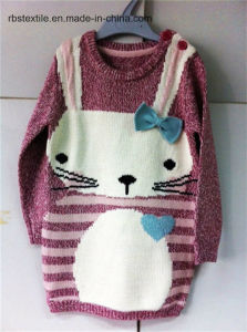 Girls Rabbit Intarsia - True Knitted Sweater Dress pictures & photos