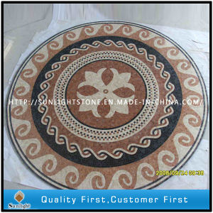 Mixed Natural Marble Mosaic Floor Medallion for Hotel Interior Decoration pictures & photos