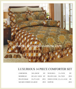 Luxury 14PCS Jacquard Comforter Set Bedding Sets