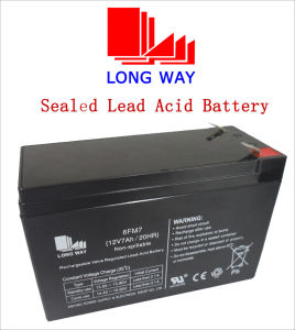 12V7ah Power Solar Sealed Rechargeable Battery pictures & photos